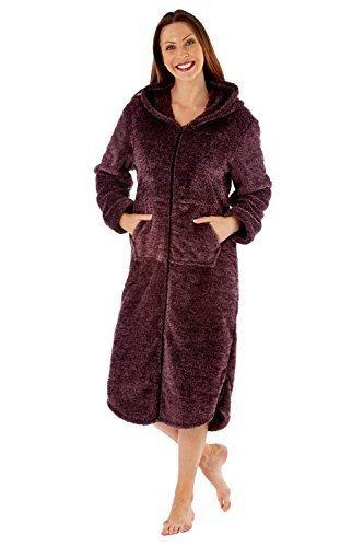 Mujer Polar Suave Pijama Pijamas Juego O Con Capucha Batón - sintético, Con Capucha Batón