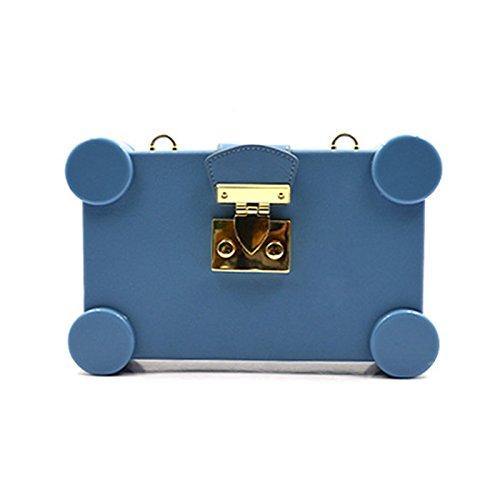 Sky Blue Scent Wheel Dinner Locking Bag Small Buckle Navy Zazero Bag Bag Shoulder Cross x7qS1nx0OW