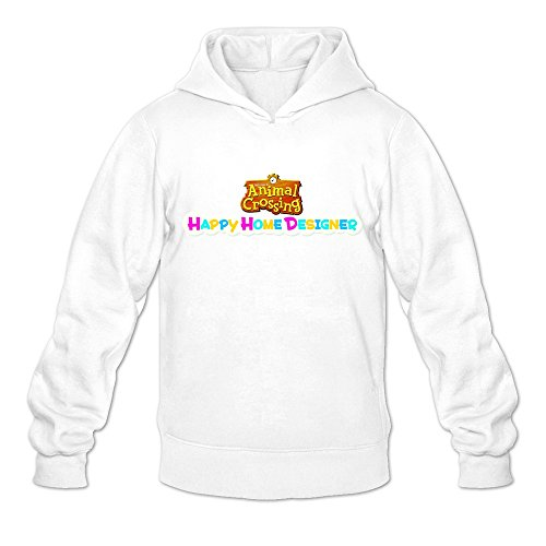 Animal Crossing:Happy Home Designer Logo Cute O-Neck White Long Sleeve Sweatshirt For Adult Size (Animal Logo Sweatshirt)