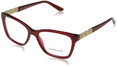 Versace VE3192B Eyeglass Frames 388-52 - Transparent Red - Versace Eyeglasses For Women