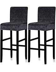 Lellen Reusable Pub Counter Stool Chair Covers Slipcover Stretch Removable Washable Dining Room Chair Covers