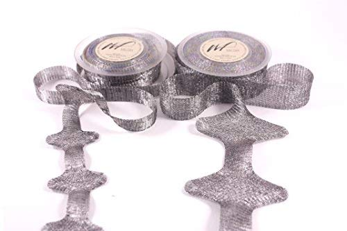 10m Ultra Fine Knitted Tarnish Resistant Artistic Craft Copper Wire Mesh Ribbon for Wrapping, Wedding Floral Designs, Accessories, Jewelry Making DIY kit (Set of 2 spools of 5 Meters Mesh) (Hematite) by Wire Fancy (Image #9)