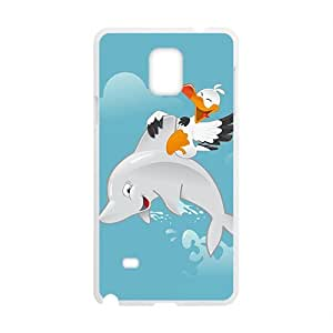Fresh dolphin and bird Cell Phone Case for Samsung Galaxy Note4