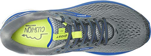 Brooks Men's Ghost 11 Grey/Blue/Silver 7 EE US by Brooks (Image #1)