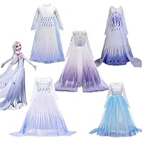Ardorlove FROZEN 2 Girls Dress Anna Elsa 2 Cosplay Party Girl Clothing Kids Halloween Costume Elsa Dress gift (Color…