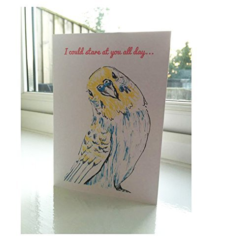 I Love You Parrot greeting card A6 One Card and Envelope Valentines Romantic