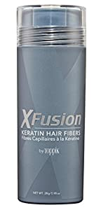 X-Fusion Keratin Hair Fibers for Unisex, Light Brown, Net WT .28g/ 0.98 oz