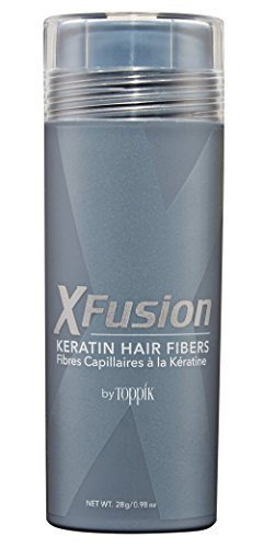 XFusion Economy Size Keratin Hair Fibers, White, 28 grams/0.98 oz