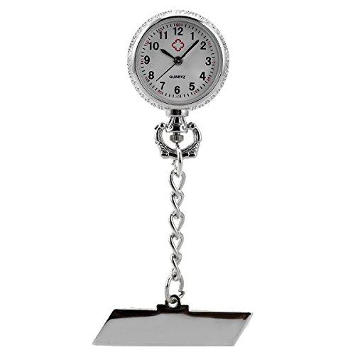 Nurses Pocket Watch Clip-on Fob Brooch Lapel Pin-on SIBOSUN Doctor Paramedic Health Care Women's - Lapel Chain Watch