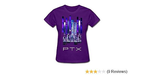 9410d4169433c Amazon.com  JiJa Womens Billboard Pentatonix Tee Shirt Purple M  Clothing