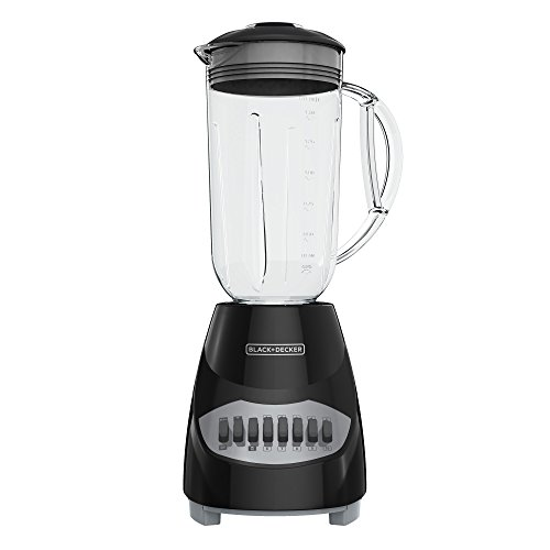 BLACK+DECKER BL2010BG Countertop Blender with 6-Cup Glass Jar, 10-Speed Settings, Black Blender