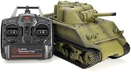 Metermall Spielzeug Zum Heng Long 3898-1 2.4G 1//16 US Sherman M4A3 Kampfwagen mit Funksteuerung