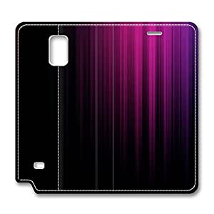 Samsung Galaxy Note 4 Leather Cases - NEW DESIGN LEATHER / Colorful Stripes Folding Leather Folio Samsung Galaxy Note 4 Stand Case / Slim Fit Skin Cover for Samsung Galaxy Note 4