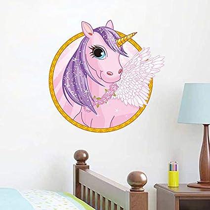 Unicornio de Dibujos Animados Lindo Pegatinas de Pared ...