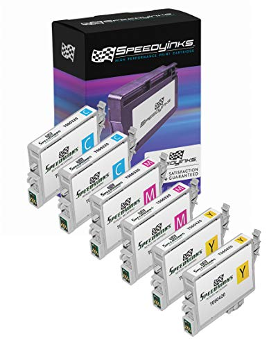 Speedy Inks Remanufactured Ink Cartridge Replacement for Epson T060220 ( Cyan,Magenta,Yellow , 6-Pack ()