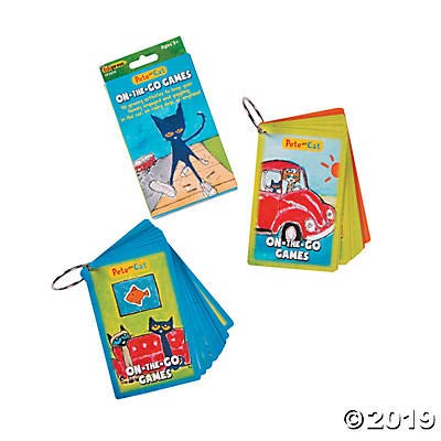 Fun Express Pete The Cat On The Go Games - Educational Learning Aids