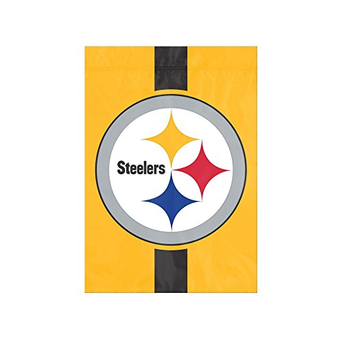 "The Party Animal NFL Pittsburgh Steelers NFL Garden Flag, Yellow, 18"" x 12.5"""