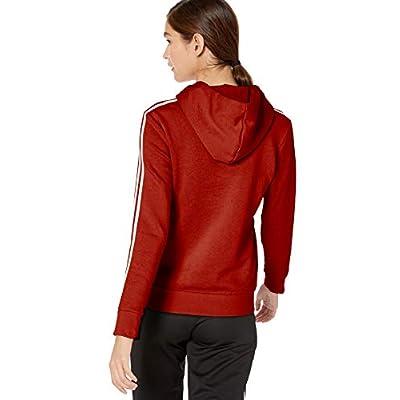 adidas Women's Essentials 3-stripes Fleece Hoodie Sweatshirt: Clothing
