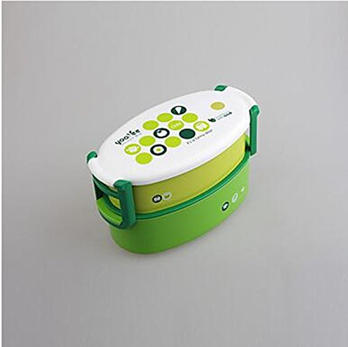 dinner-set-double-layer-container-bento-lunch-box-for-kids-light-green