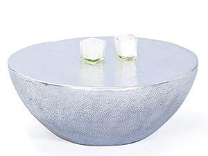 Links - Industry A34 - Tavolino. Dim: 70x70x30 h cm. Col: Argento. Mat: Metallo.