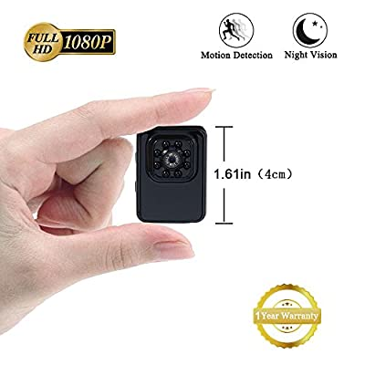 Mini Camera 1080P Small Camera LXMIMI Portable HD Tiny Camera Nanny Web Cam with Night Vision and Motion Detection for Home/Office Indoor/Outdoor Security Surveillance Camera