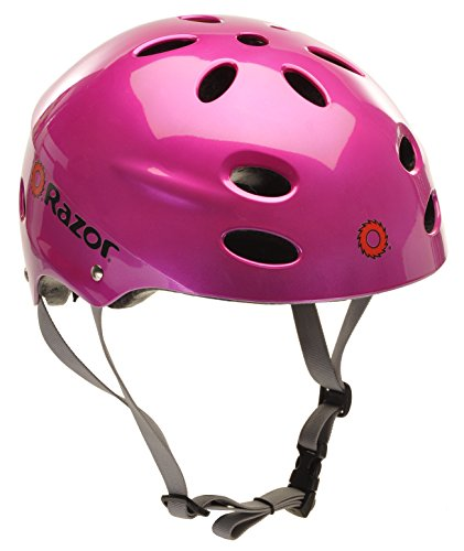 Razor V-17 Youth Multi-Sport Helmet, - Magenta Bike