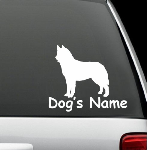 (natashacustomjewelry Personalized Siberian Husky Dog Name Decal Window Sticker Decal for Car Window 5