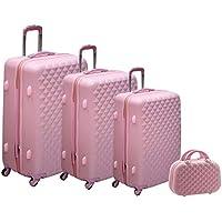 Morano PPC Trolley 3Pcs Set with Beauty Case, Light Pink, 6675