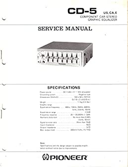 service manual parts list schematic wiring diagram for pioneer cd rh amazon com
