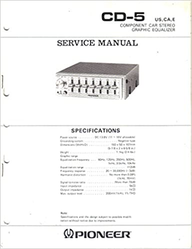 Service Manual, Parts List, Schematic Wiring Diagram for ... on
