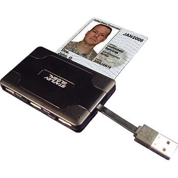 SGT121 CAC Smart Card, Multi-Memory and USB Hub, SDX Reader with 3-Port USB Hub