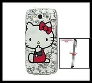 New Hello Kitty Samsung Galaxy S 3 / III I9300 Hard BACK Cover Case Multiple Images + One FREE Silver Stylus Pen