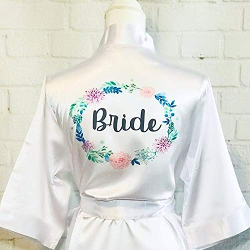 6ad7446e22 Amazon.com  Personalized Floral bride robes