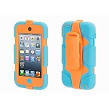Griffin Turquoise/Orange Survivor All-Terrain Case + Belt Clip for iPod touch (5th/ 6th gen.) - Extreme-duty case