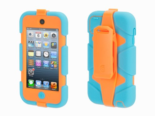 Griffin Turquoise/Orange Survivor All-Terrain Case + Belt Clip for iPod touch (5th/ 6th gen.) - Extreme-duty (Ipod Touch Orange)