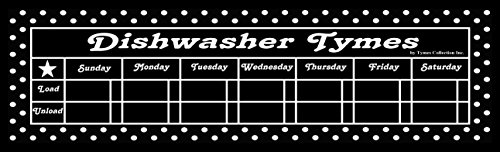 17' X 5' Magnetic Dishwasher Chore Chart PLUS a FREE Chalk Marker. Great Dishwasher Schedule for Home / Office