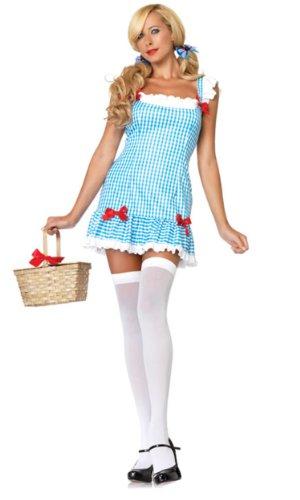 Leg Avenue Women's Darling Dorothy Costume, Blue/White, Small/Medium -