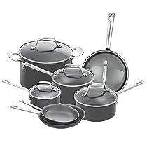 Emeril Lagasse 62920 Dishwasher safe Nonstick Hard Anodized 12 Piece Cookware Set ,Gray