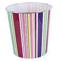 JVL Modern Retro Flower Stripes Spots Circles Plastic Waste Paper Bin Basket