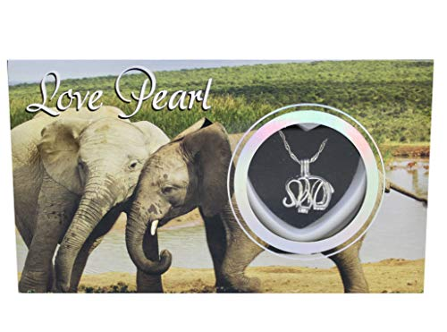 - Elephant Love Wish Pearl Kit Chain Necklace Kit Pendant Cultured Pearl in Kit Set with Stainless Steel Chain 16