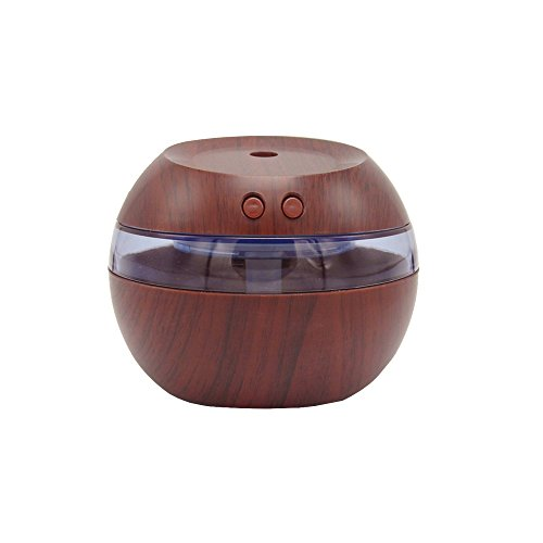 ROOVON Humidifier Home Office Humidifier 290ml Air Purifier USB Portabel Humidifier for Travel Redwood Color by ROOVON