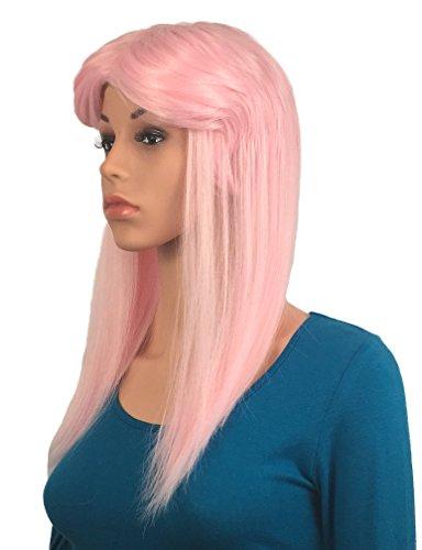 Women's Pink Rocker Mullet Wig: Sexy 80s Wig Women Colorful Rockstar Costume Wig Pink Mullet Wig Rocker Wigs Women Girls Fun Sexy Pink 80's Wig Hot Rockstar Wig Pink Wig