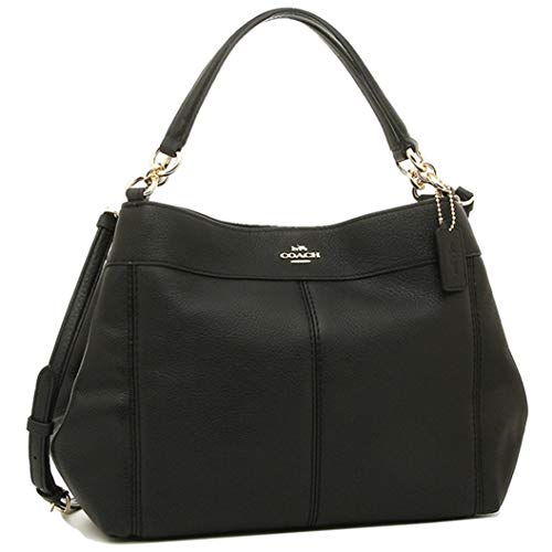 Coach Women's Small Lexy Shoulder Bag In Refined Pebble Leather (F28992) (Black)
