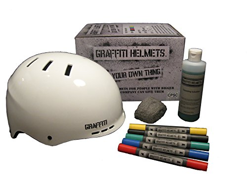 Graffiti-Helmets-Draw-Your-Own-Bike-Helmet-and-Skateboard-Helmet-Adult-Helmet-and-Kids-Helmet-CPSC-Certified