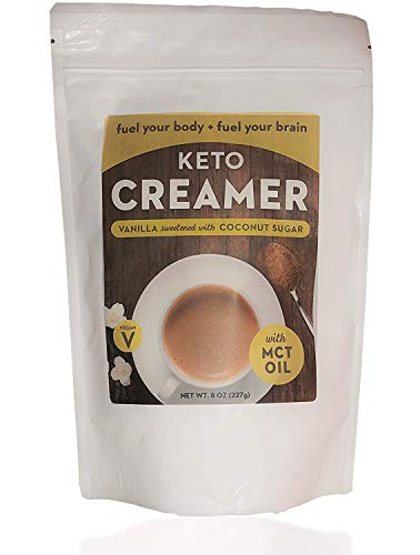 Keto Creamer with MCT Oil, Dairy Free Super Creamer with Vanilla Coconut Sugar, 8 oz Resealable Bag