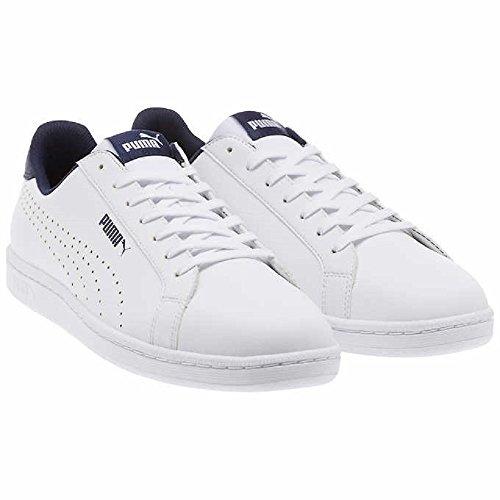 Puma Mænds Smash Læder Klassiske Sneaker Perf C- Hvid hGbDK2T