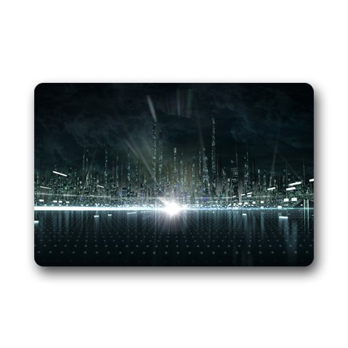 City Concept Tron Legacy Custom Outdoor Indoor Doormat Personalized Design Machine-Wahable Neoprene Rubber Doormat 24
