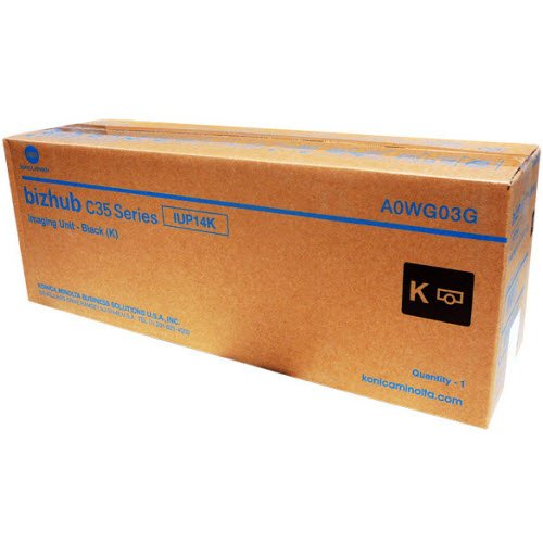 - Genuine Konica Minolta IUP14K Black Imaging Unit for Bizhub C25 C35 C35P A0WG03G