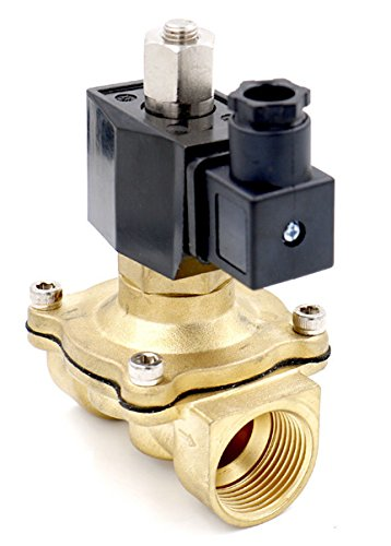 Woljay Electric Solenoid Valve 1//2 Inch DC 12V Water Air Gas NO Normally Open Brass Valve