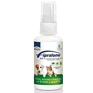 fipralone Spray 2,5 mgml Antiparasitario pulgas y garrapatas para perros y gatos: Amazon.es: Jardín